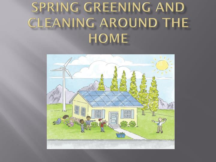 spring greening and cleaning around the home n.