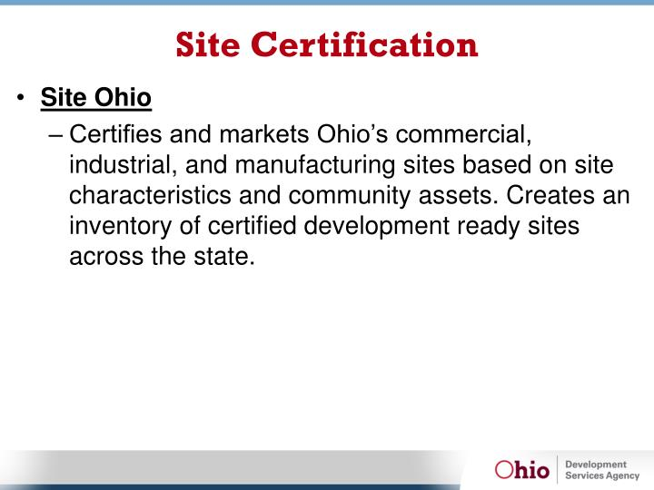 Site Certification