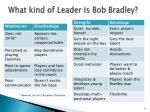 what kind of leader is bob bradley