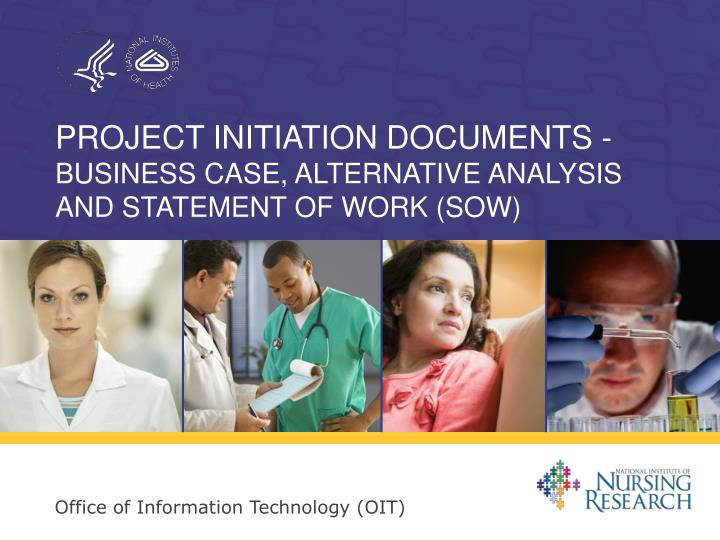 project initiation documents business case alternative analysis and statement of work sow n.