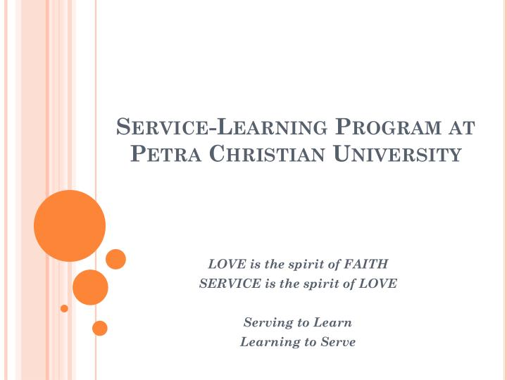 Service learning program at petra christian university