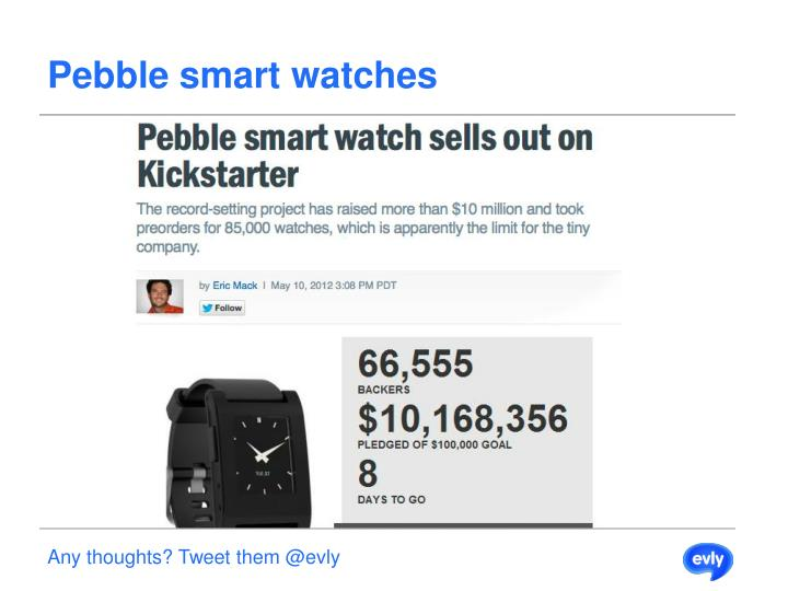 Pebble smart watches