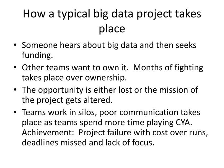 How a typical big data project takes place