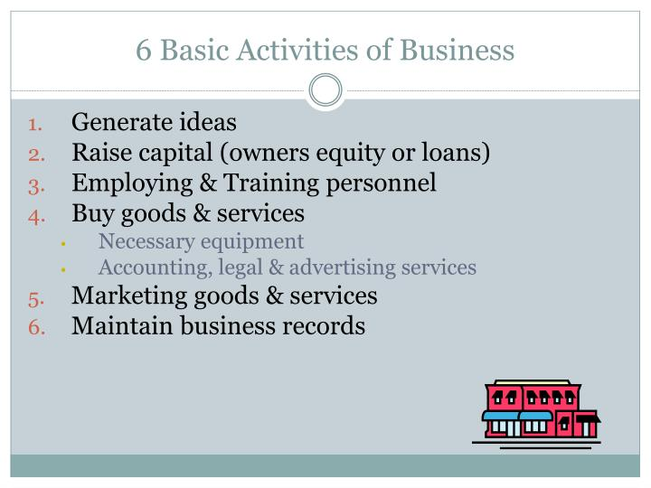 6 basic activities of business