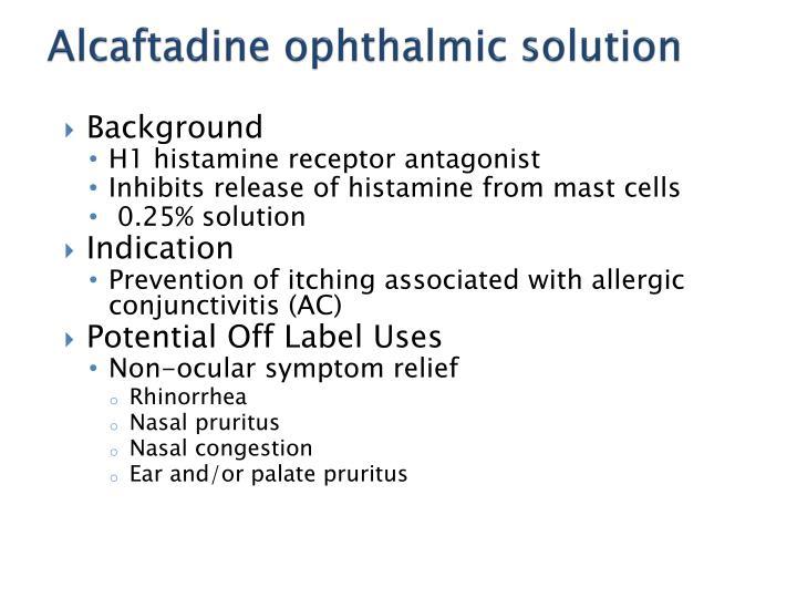 Alcaftadine ophthalmic solution