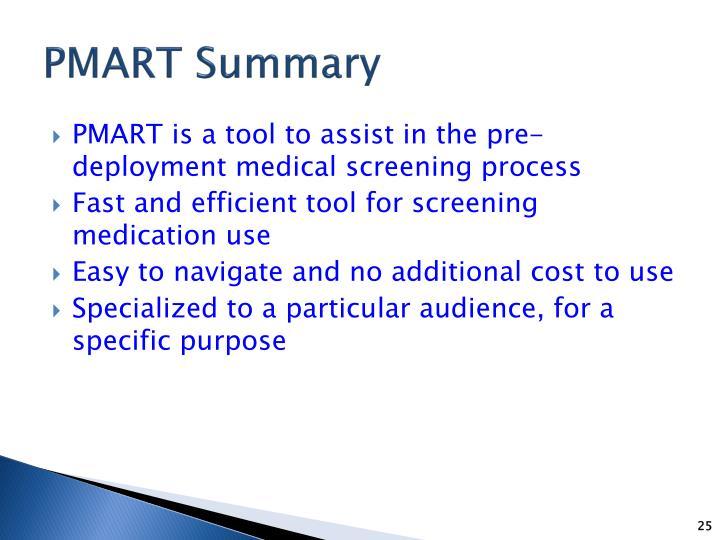 PMART Summary