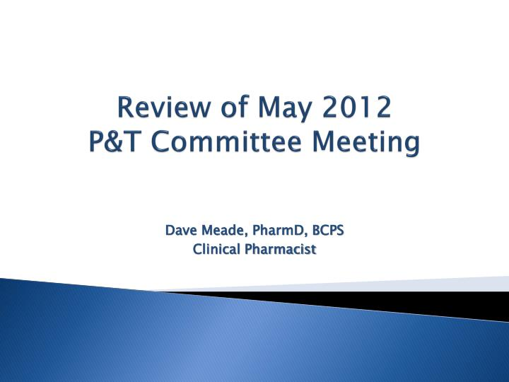 Review of May 2012