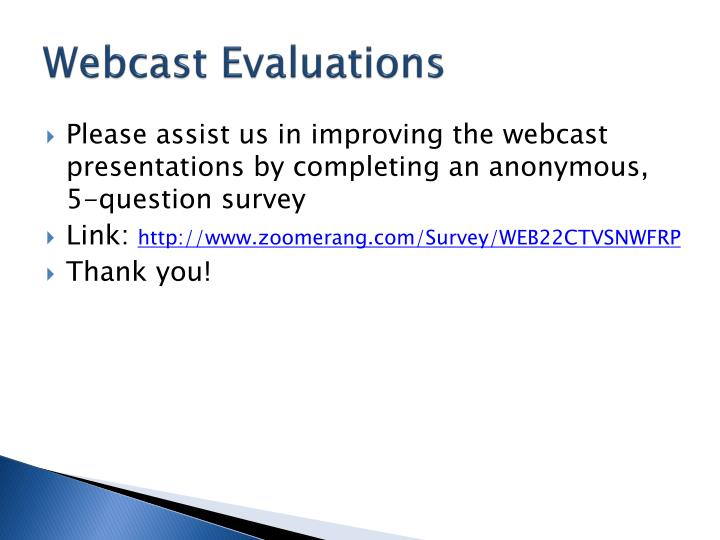 Webcast Evaluations