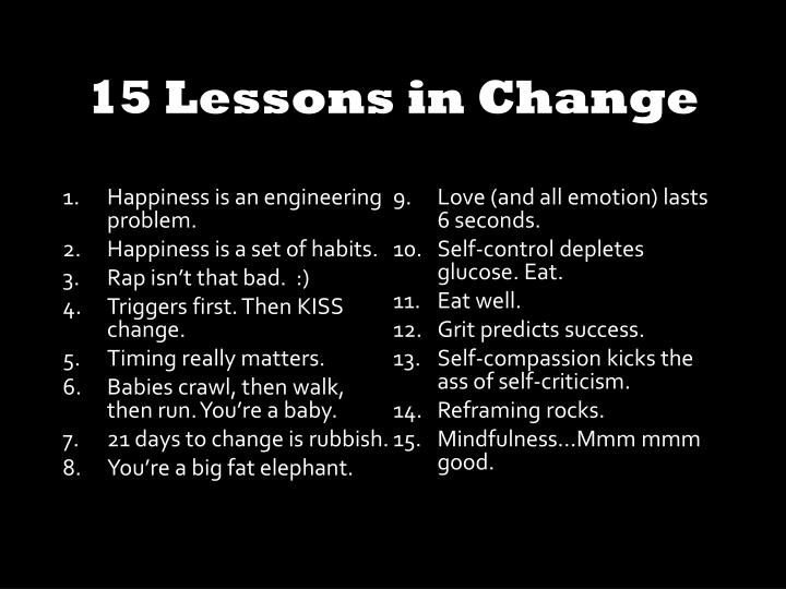 15 Lessons in Change