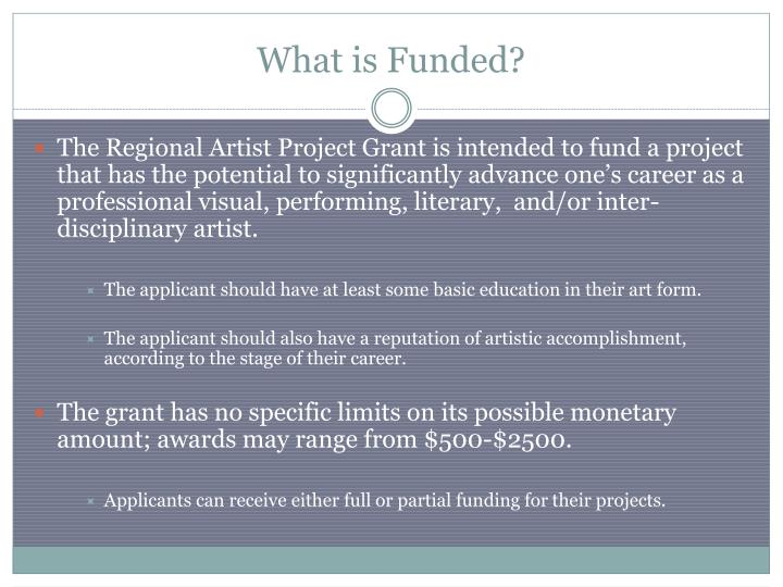 What is funded