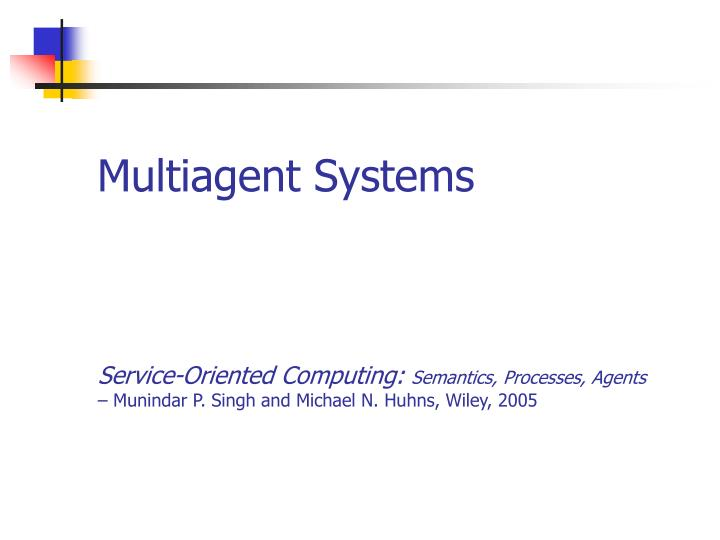 multiagent systems n.