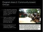 program area 2 community based groups
