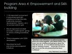 program area 4 empowerment and skill building