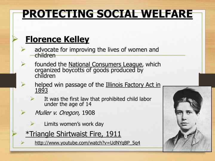 PROTECTING SOCIAL WELFARE