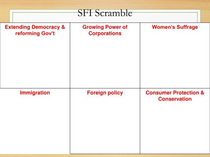 SFI Scramble