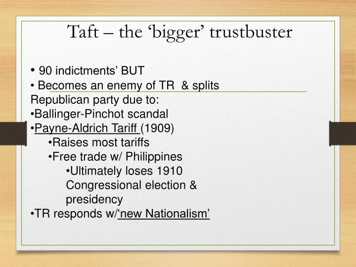 Taft – the 'bigger' trustbuster