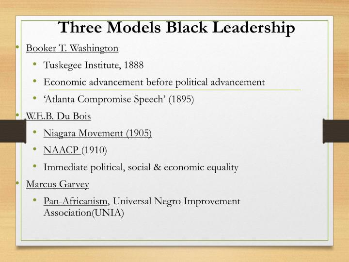 Three Models Black Leadership
