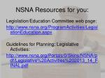 nsna resources for you