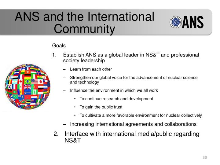 ANS and the International Community