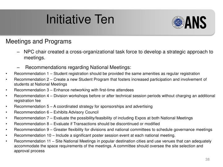 Initiative Ten