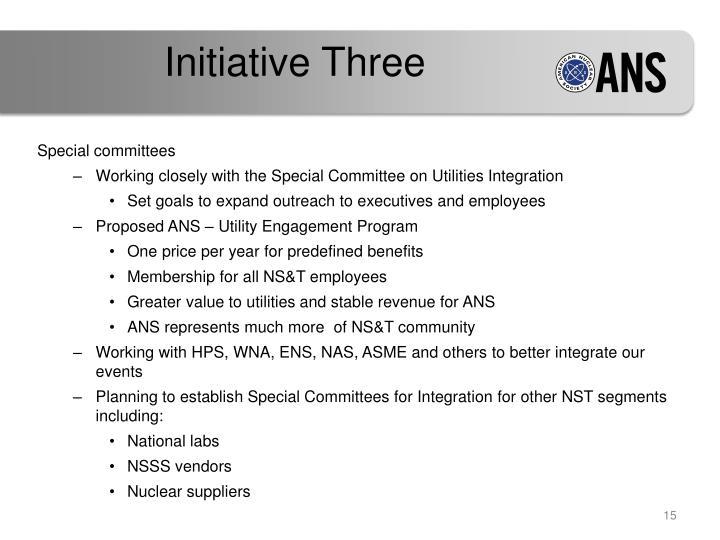 Initiative Three