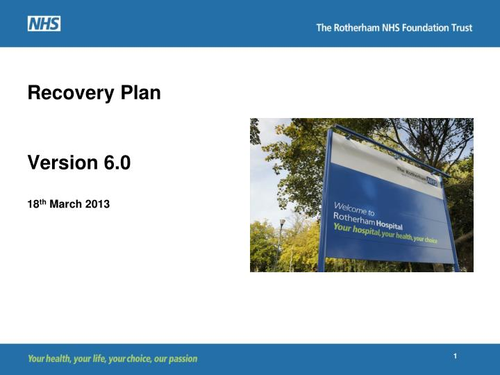 recovery plan version 6 0 18 th march 2013 n.