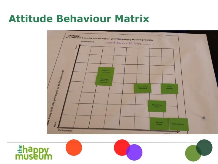 Attitude Behaviour Matrix