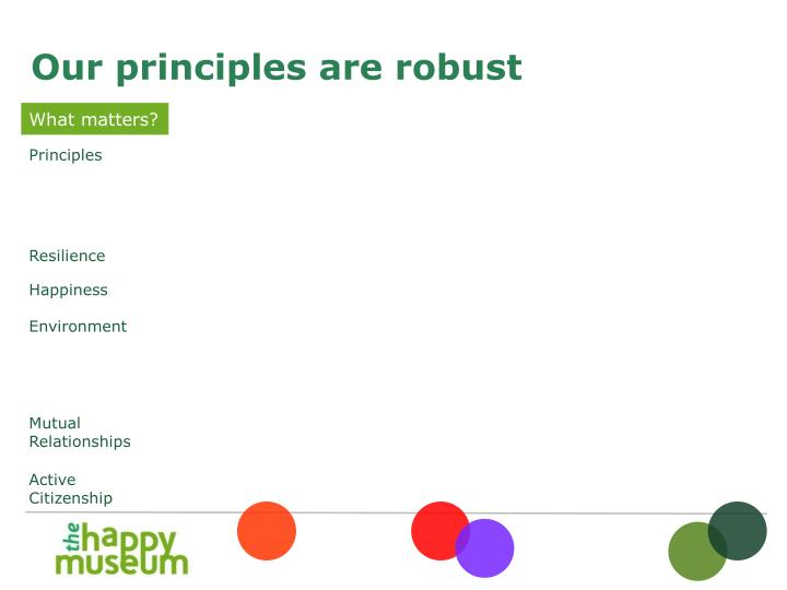 Our principles are robust