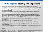 social aspects security and regulations