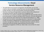 technology advancements cloud service resource management