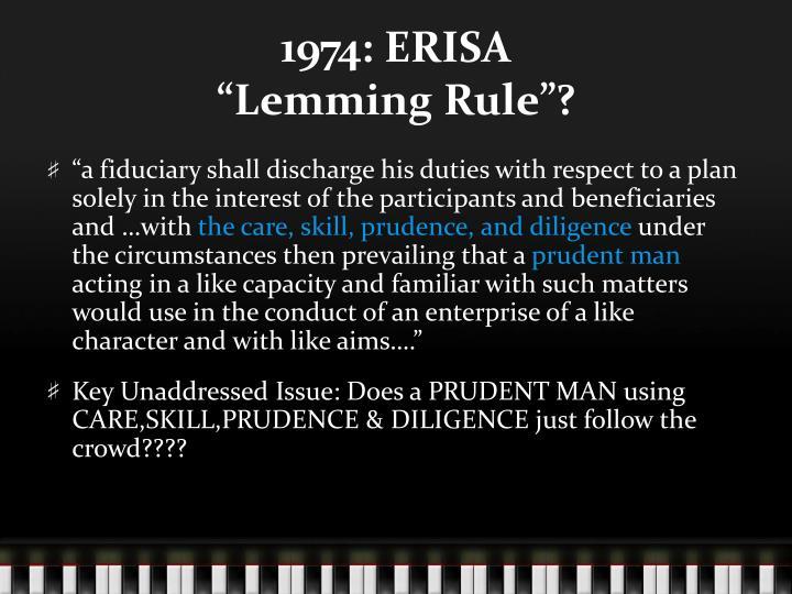 1974: ERISA