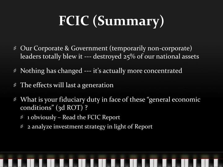 FCIC (Summary)