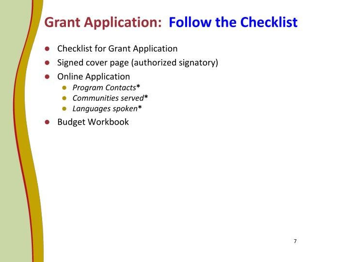 Grant Application: