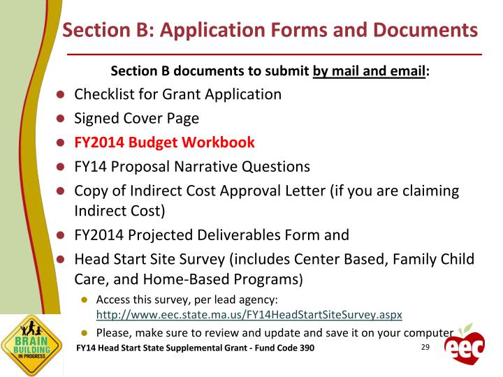 Section B: Application Forms and Documents