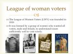league of woman voters