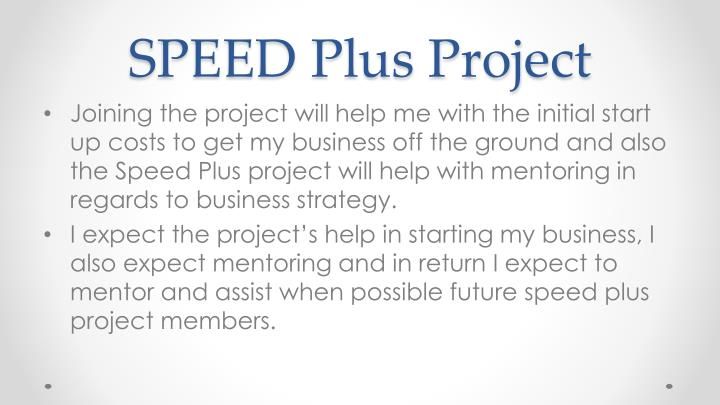 SPEED Plus Project
