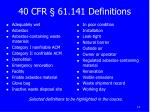 40 cfr 61 141 definitions