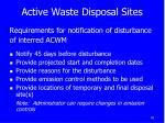active waste disposal sites3