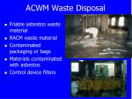 acwm waste disposal