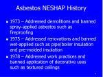 asbestos neshap history