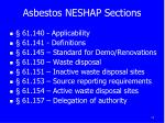 asbestos neshap sections