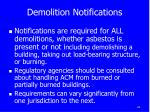 demolition notifications