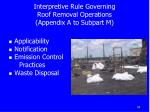 interpretive rule governing roof removal operations appendix a to subpart m