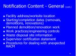 notification content general cont