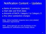 notification content updates
