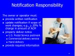 notification responsibility