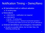 notification timing demo reno