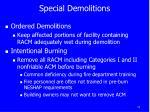 special demolitions