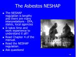 the asbestos neshap