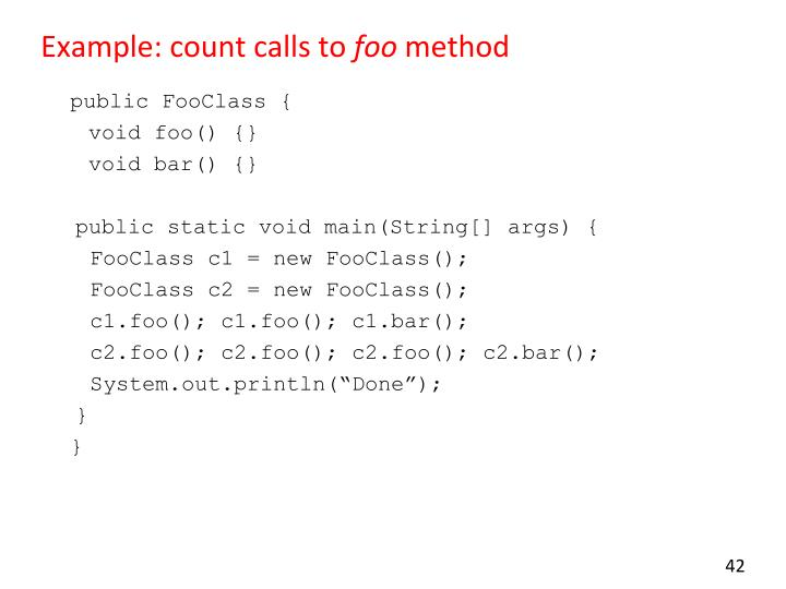 Example: count calls to